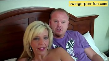 Cum swap couple xxx - Happy swinger couples swap partners and a surprise thank-you blowjob for the cameraman