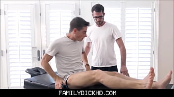 Best friends dad gay - Twink step son fucked by dads friend during massage