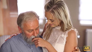 OLD4K. Teen celebrates end of all exams by having sex with old teacher 9 min