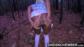 Lied & Tricked My Daughter Inlaw Into The Forest, Now Strip Bitch! Scared Black Babe Msnovember BigTits BigNipples Shaved Pussy & Bigass Groped By Freaky BlackFather In Public On Sheisnovember
