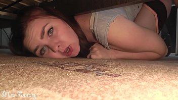 Big ass fantasy - Stuck under the bed and was fucked in a wet pussy