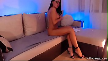 Beautiful Camgirl in Glasses Shows Off Her Sexy Body