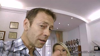 Hot blonde Roxy anal fucked POV by Rocco Siffredi