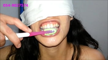 Sharon From Tel-Aviv Brushes Her Teeth With Cum