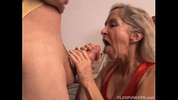 Old Man Pleases His Son's Cheating Gf Outdoors