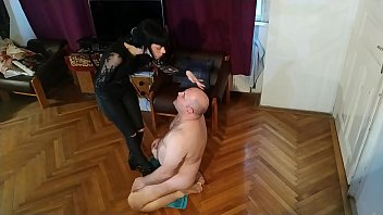 Beth Kinky - Sexy goth domina spitting on her slave's face pt2 HD