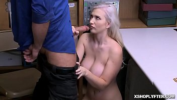 Emily Right kissing LP Officers cock and then swallows it!