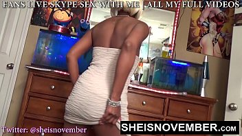 HD Msnovember Flirty White Dress Upskirt In Her Bedroom Spreading Asscheeks And Black Pussy On Sheisnovember Jiggling Her Big Bubble Butt