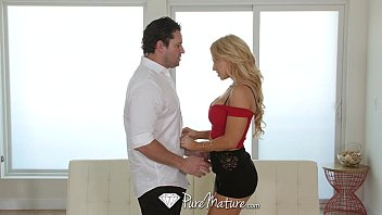 PureMature - Sexy blonde Alix Lynx comes home for a fuck and suck session