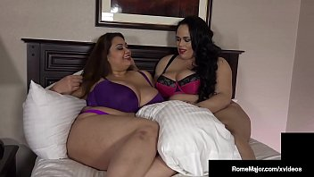 Thick BBWs Ling Ling & Christina Live get their plump pussies pounded by big black cock Rome Major in this curvy interracial fuck clip! Full Video & More Chicks Fucking @ RomeMajor.com!