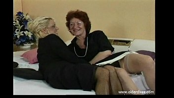 Sexy in business suits Old lesbians in business suits stockings and heels get it on
