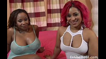 Chubby white girl xxx Two chubby black babes fuck a white guy