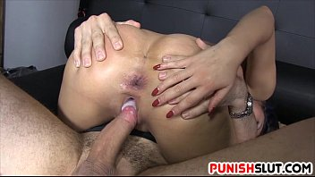 Submissive Slut Treated To Anal Fuck And Pussy Creampie