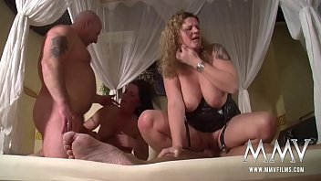 Romantic evening with two milfs and a good man for sex