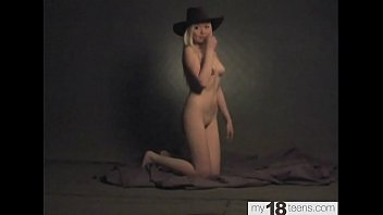 Nude Photo Session of a Student in a Cowboy Hat