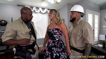 TV Repairman And His Apprentice DP Big Ass MILF Candice Dare