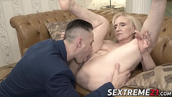 Grandma seduces younger stud into passionate lovemaking