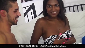 CASTING ALLA ITALIANA - Interracial MMF threesome with gorgeous Indian babe Maya threesome
