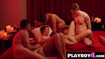 Group of MILFs banged by a bad guys in a group sex