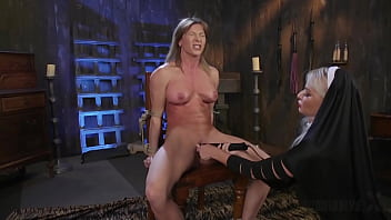 Tied Up Ariel X Strapon Fucked In All Holes By Horny Nun London Rivers