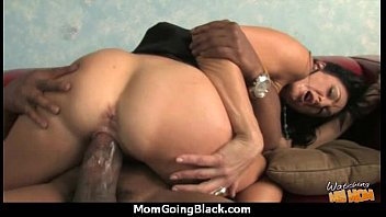 Sexy mom gets a creamy facial after getting pounded by a black dude 15
