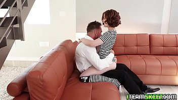 Hot Spooning Fuck On The Couch From Aria Sky And Johhny Castle!