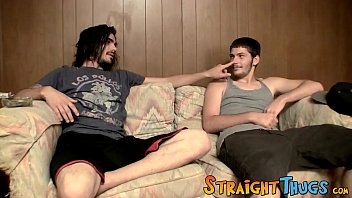 Straight thugs dick slapping and wanking each other