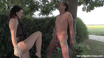 Water Balloon Games - Gorgeous German Mistress and Huge Seline Balls
