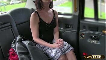 Charming fan lady gets jumped in the taxi and banged in doggystyle