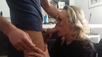 My wife prepares the bull for mating