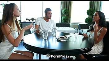 PornPros - Chloe Amour and Kacy Lane get a load of cum for dessert