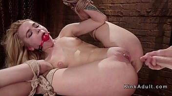 Blonde gets extreme anal training