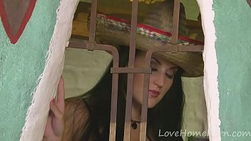 Hot girlfriend teases while wearing a sombrero