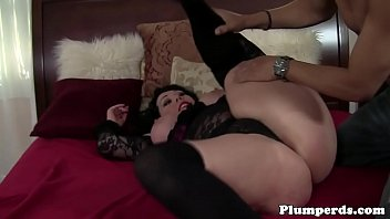 Obese lingerie cougar cockrides and titfucks