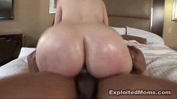 Milf w Amazing Big Ass rides a Large Big Black Cock Interracial Video