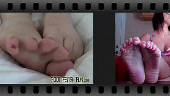 We are going to wiggle our cute little teen toes for you