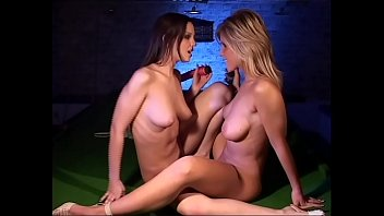 Two perfect sluts with huge boobs loves to trib!