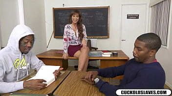 Limp dick loser humiliated by teacher wife in front of black students