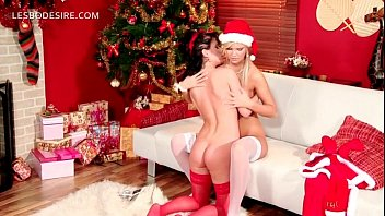 Oral sex xmas - Lesbian duo gifting each other with oral sex on xmas