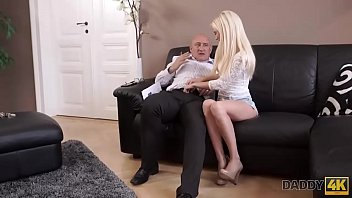 DADDY4K. Massage then old and young sex makes GF and father happy 10 min
