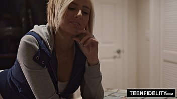 Teenfidelity Kate England Plays Strip Poker With Stepdad