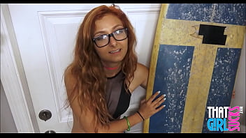 Red head milfs with glasses Hot red head stepsister sucking brothers cock pov