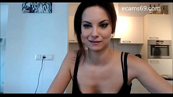 Sweet Brunette Teen Strips and Masturbates on Camera