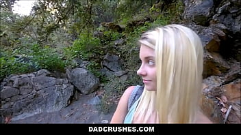Hot Blonde Shy Tiny Teen Step Daughter Riley Star Gets Step Dad Big Cock While On Camping Trip POV