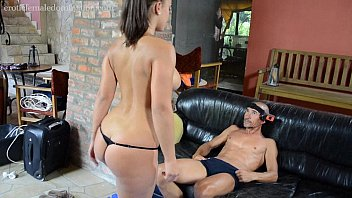 Erotic cbt .uk Wide hipped lisa ballbusting a freak femdom style