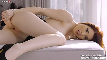 Stunning brunette Mia Evans one on one with her dildo 12 min