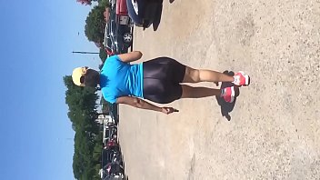 Mature Latina With MEGA Booty in Shiny Spandex Shorts preview image