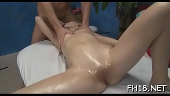 Naked boys clothed girls Beauty receives massage