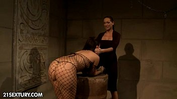 Lesbians fem dom Maria bellucci learns it in the hard way