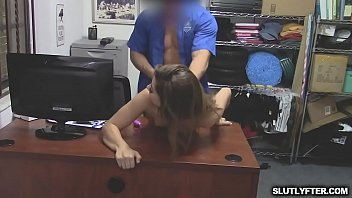 Brunette Ava bangs with officer Peter to   avoid cop involvement in her case